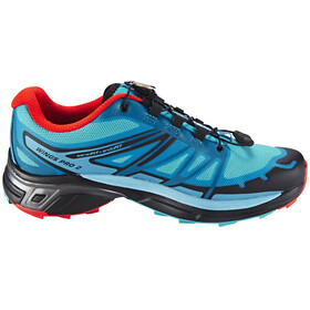 Salomon Wings Pro 2 Trailrunning Shoes Women blue jay/fog blue/lava orange